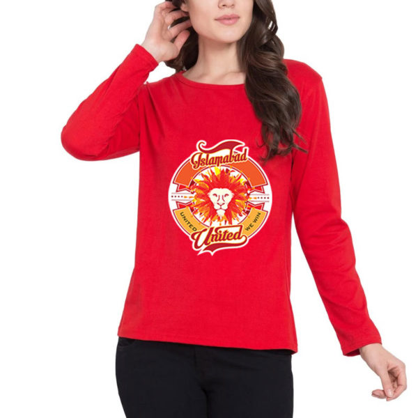 islamabad united red t-shirt for women