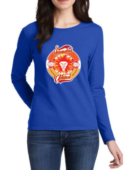 islamabad united blue t-shirt for women