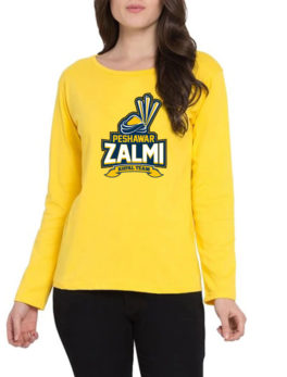 peshawar zalmi yellow t-shirt for women