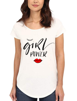 Girls Power Printed T-Shirt In White
