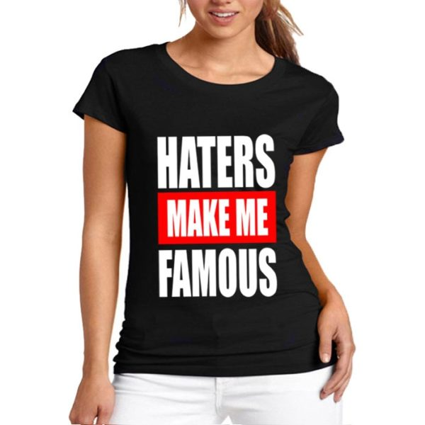 Haters Make Me Printed T-Shirt In Black