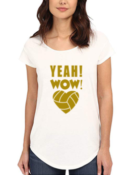 Yeah Wow Printed T-Shirt In White