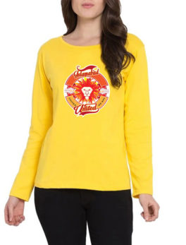 islamabad united yellow t-shirt for women