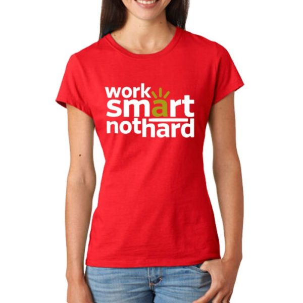 Work Smart Printed T-Shirt In Red