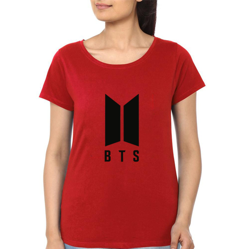 BTS Printed T-Shirt In Red