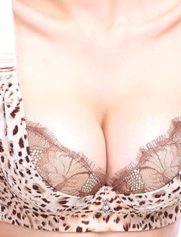 Cotton Bra Underwired Cheetah Print Double Padded