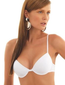 Cotton Bridal Bra Single Padded Under Wired In White