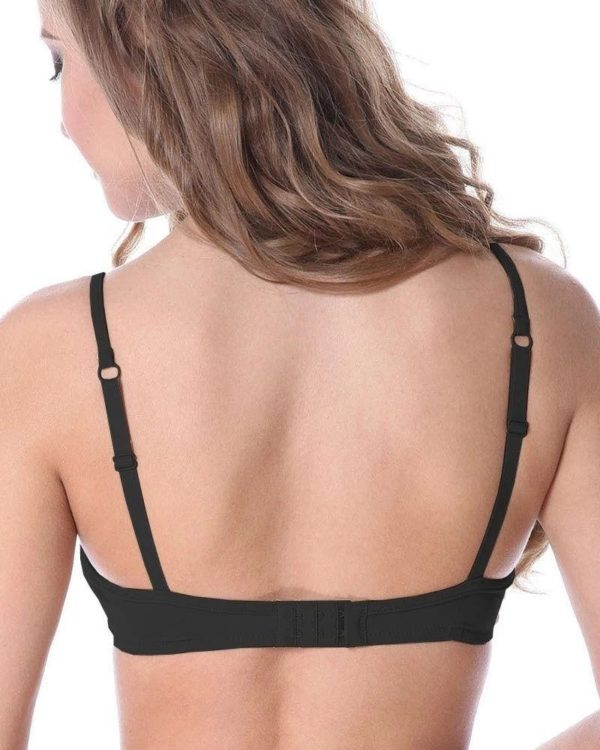 Cotton Wedding Bra Non Padded Non Wired In Black