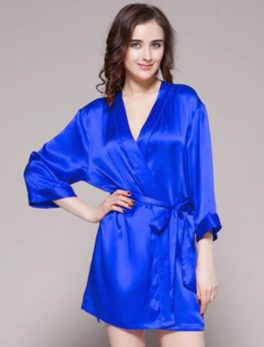 Night Gown Ivory 100% Polyester Satin Gwn-11-Rb In Red