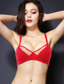 Cotton Bra Vena Lingerie Soft Padded In Red